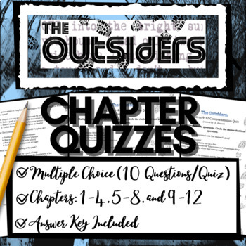 The Outsiders Novel Study: Chapter Quizzes (10-Question Multiple Choice)