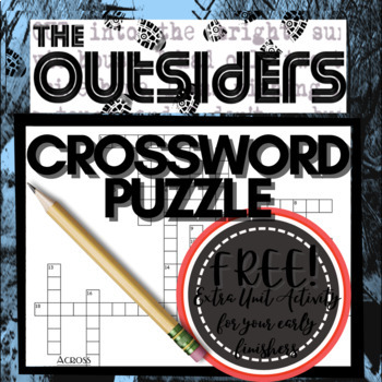 The Outsiders Crossword Puzzle