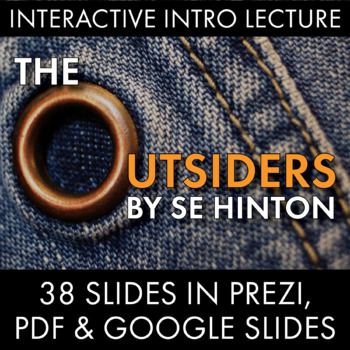Outsiders Dazzling Lecture Materials to Launch S.E. Hinton