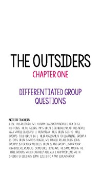 The Outsiders Differentiated Chapter One Questions