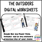 The Outsiders Digital Worksheets for distance learning