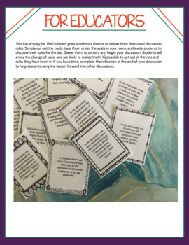 The Outsiders Discussion Role Cards