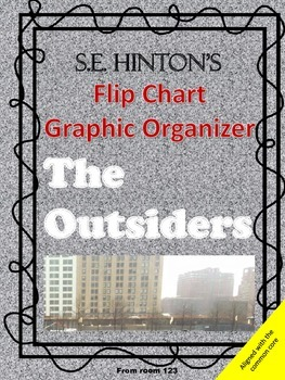 The Outsiders Elements of Fiction Flip Book Graphic Organizer