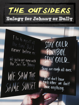 The Outsiders Eulogy for Johnny or Dally