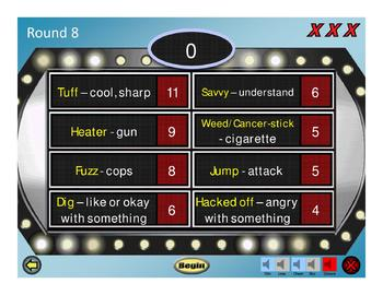 The Outsiders (S.E. Hinton) Family Feud Review Game