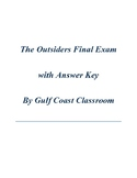 The Outsiders Final Exam with Answer Key