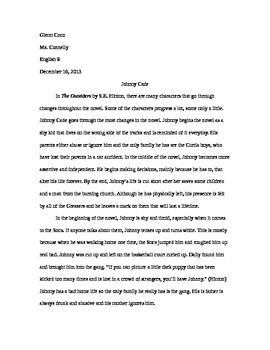 The Outsiders Final Project/Assessment