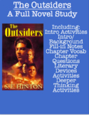 The Outsiders: Full Novel Study (& more!)