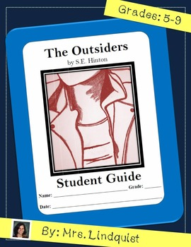The Outsiders by S.E. Hinton Full Book Student Guide Standards Based