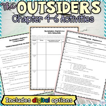 The Outsiders Chapters 4, 5, 6 Activities