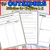 The Outsiders Chapters 1 to 3 Graphic Organizers and Guided Reading Activities