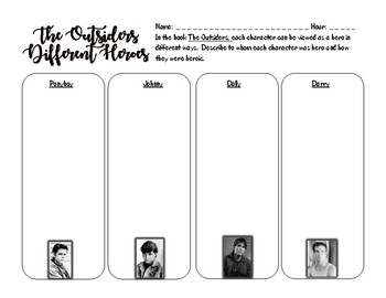 The Outsiders Hero Activity