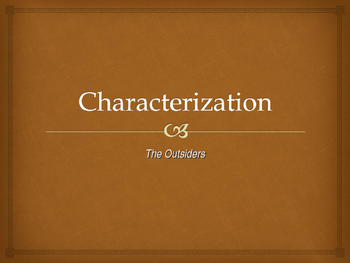 The Outsiders Hero Lesson PPT