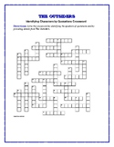 The Outsiders: Identifying Characters by Quotations Crossword