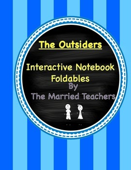 The Outsiders Interactive Literature and Grammar Notebook Foldables