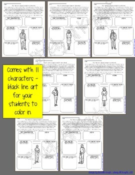 THE OUTSIDERS: INTERACTIVE NOTEBOOK CHARACTER PAGES