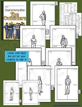 THE OUTSIDERS: INTERACTIVE NOTEBOOK CHARACTERIZATION MINI FLIP