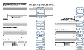 The Outsiders Interactive Notebook Reading Guide