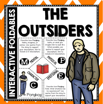 The Outsiders: Reading and Writing Interactive Notebook Foldable