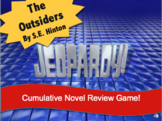 The Outsiders S.E. Hinton Jeopardy Review Game