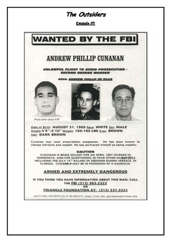"""""""The Outsiders"""" - Jonny Cade Wanted Poster"""