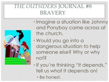 The Outsiders Journal Prompts