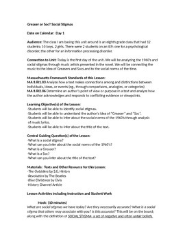 The Outsiders Lesson Plan