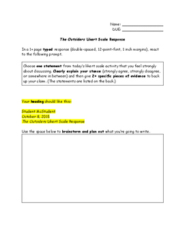 The Outsiders: Likert Scale Response Assignment