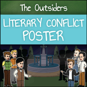The Outsiders: Literary Conflict Poster