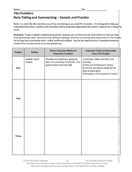 THE OUTSIDERS Study Guide Answers - wlstigers.org
