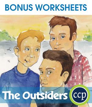 The Outsiders - Literature Kit Gr. 9-12 - BONUS WORKSHEETS
