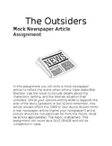 The Outsiders Mock Newspaper Article Assignment