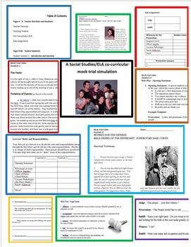"""The Outsiders"" Mock Trial ""The People vs. Johnny Cade"" - SS/ELA activity"