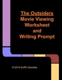 The Outsiders Movie Worksheet and Writing Prompt