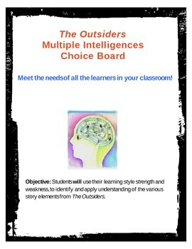 The  Outsiders- Multiple Intelligences Choice Board