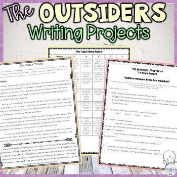 The outsiders writing teaching resources teachers pay teachers the outsiders writing projects to summarize important novel events fandeluxe Images