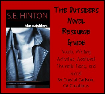 The Outsiders Novel Resource Guide {Vocab, Writing Tasks, Addt'l Texts, & more}