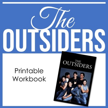 The Outsiders - Novel Study, Journals, Writing Prompts, Un