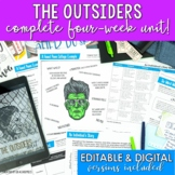 The Outsiders Novel Study Unit and Activities - PRINT and DIGITAL