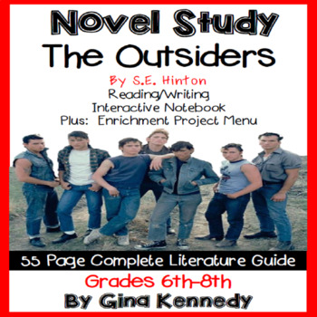The outsiders plot teaching resources teachers pay teachers the outsiders novel study and enrichment project menu fandeluxe Images