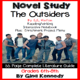 The Outsiders Novel Study and Enrichment Project Menu; Plu