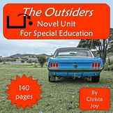 The Outsiders Novel Study for Special Education