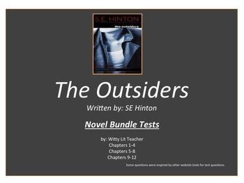 The Outsiders Novel Test Bundle