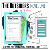 The Outsiders Novel Unit {Google Docs Resource}