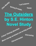 The Outsiders Novel Unit - Close Reading, Inference, Text Evidence, Writing