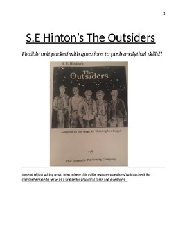 The Outsiders Play Flexible Unit Plan