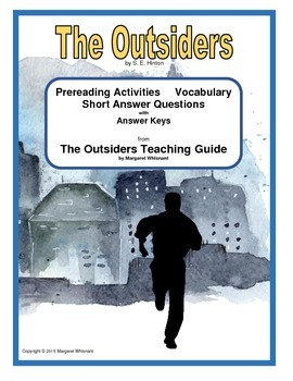 The Outsiders:  Prereading/Vocabulary/Short Answer Questions