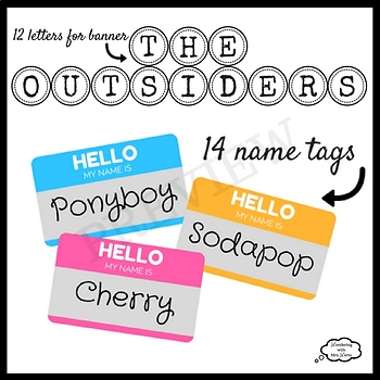 The Outsiders Prop Kit for Plays, Readings, Discussions, and Photo Booths