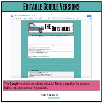 The Outsiders QR Code Web Quest