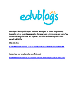 The Outsiders RAFT Writing Project